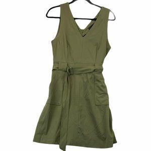 Harve Benard Green Sleeveless Utility Dress